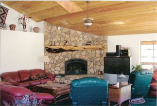 living room, virginia fieldstone, custom interior, river rock, fireplace